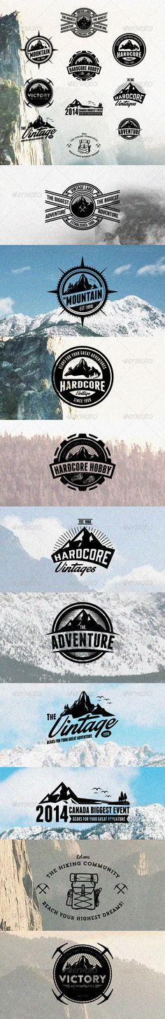 10 Hardcore Adventure Logos & Badges Template | Buy and Download: http://graphicriver.net/item/10-hardcore-adventure-logos-badges/8467073?WT.ac=category_thumb&WT.z_author=Suhandi&ref=ksioks