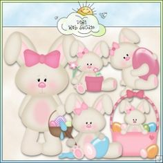 Betsy Bunny 1 - NE Kristi W. Designs Clip Art