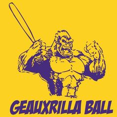 LSU Baseball --->http://www.tigerdistrict.com/products/001-10042-1?utm_campaign=tiger_source=facebook_medium=post_content=6pm_gorillaball