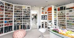 "The closet is an Alladin's Cave of Wonder for lovers of designer labels.  Roemer calls it her ""she cave."" Photo: Chinh Phan, Chinh Phan/Neiman Marcus / Fotowerk Group"