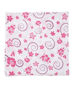 Loving this Pink Floral Swaddling Blanket on #zulily! #zulilyfinds