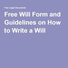 write your own will for free