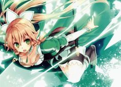 e-shuushuu kawaii and moe anime image board Moe Anime, Manga Anime, Anime Art, Leafa Sword Art Online, Kirito Kirigaya, Asuna Sao, Online Anime, Beautiful Anime Girl, Yandere