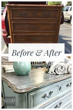 Before & After - French Provincial Skeleton Key Dresser - September 29 2019 at Furniture Painting Techniques, Chalk Paint Furniture, Furniture Projects, Custom Furniture, Cool Furniture, Furniture Refinishing, Bedroom Furniture, Furniture Cleaning, Furniture Repair