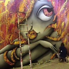 "Artist : Vinie Graffiti "" Rue des Arts 2014 Aulnay"" #streetart #Fresque #Graffiti #newmural #street #urbanisme #streetartgalerie www.streetartgalerie.com"