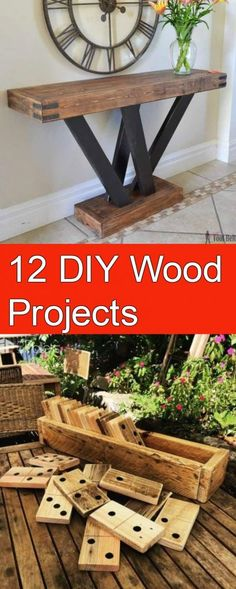 12 DIY Wood Projects - DIY IdeasYou are in the right place about great Woodworking Projects Here we offer you the most beautiful pictures about the Woodworking Projects wood you are looking for. When you examine the 12 DIY Wood Projects - DIY Ideas Wood Projects That Sell, Wood Projects For Beginners, Small Wood Projects, Reclaimed Wood Projects, Scrap Wood Projects, Woodworking Projects Diy, Woodworking Plans, Woodworking Classes, Woodworking Furniture