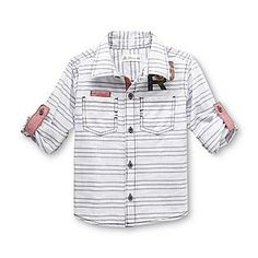 Route 66 Baby- -Toddler Boy's Long-Sleeve Shirt - Striped