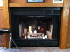 Needed to pretty up the fireplace.