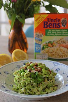 Ærte-edamamecreme med ris og quinoa på 20 minutter (vegansk)