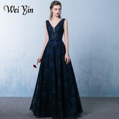 Aliexpress.com : Buy New Arrival 2017 Evening Dresses Pretty Lace Glamorous Black V Neck Sleeveless Dresses Evening Special Occasion Dresses from Reliable evening dress suppliers on wei yin Suzhou Wedding Dresses Store
