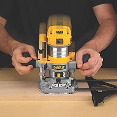 DEWALT Router 1.25 HP Max Torque Variable Speed Compact Router Combo Kit with LED's - Power Routers - is a tool used to rout out (hollow out) an area in the face of a relatively hard workpiece, typically of wood or plastic. The main application of routers is in woodworking, especially cabinetry. The router is most commonly used as a plunging tool and also inverted in a router table.
