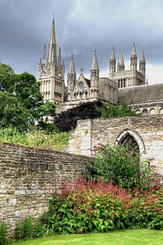 Peterborough Cathedral dates from the 10th century, Lincolnshire, England