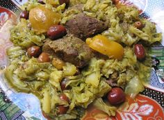 Moroccan lamb and cabbage tagine