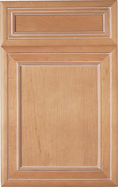 Pelham Manor Recessed door style by #WoodMode, shown in Sandstone II finish with Light glaze on maple.