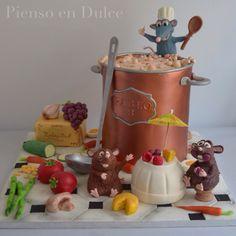 Ratatouille fondant cake, by Pienso en Dulce