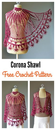 Free Corona Shawl Crochet Pattern