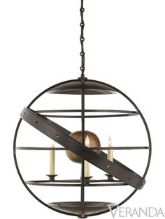 Fecioli Pendant by David Easton from Visual Comfort.  Love the floating in space look.