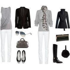 Travel Wardrobe #blackandwhite #black #white