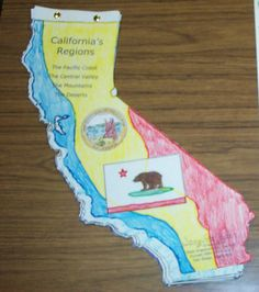 Write 5 paragraphs about your state. Use state shapes for each paragraph, then us brads to put together. Love it!