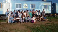 Equipo delTren de Desarrollo Social y Sanitario Eva Perón en Coronel Mollinedo, Salta