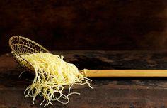 Pasta in Straining Spoon
