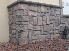 Villa Stone / Color: Almond Buff manufactured stone veneer from Kodiak Mountain Stone Manufactured Stone Veneer, Stone Exterior, Stone Gallery, Firewood, Almond, Villa, Mountain, Color, Stone Facade