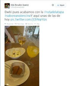 @Edurosalessuare desde #TapasVeredaReal #SaboreaValencina