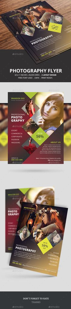 Photography Flyer Template PSD #design Download: http://graphicriver.net/item/photography-flyer/14278706?ref=ksioks