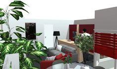 Appartement rouge et bois
