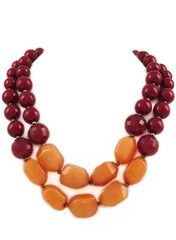 Maroon Tango Necklace- perfect maroon & orange accessory to wear to work!