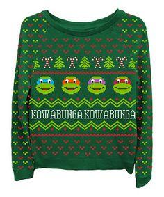 Another great find on #zulily! Green TMNT Sweatshirt - Women by Freeze Juniors & Ladies #zulilyfinds