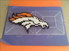 Denver Broncos Perler Bead creation! Go Broncos!