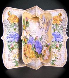 Card Gallery - Carnations Concertina Bracket 3D Card Kit