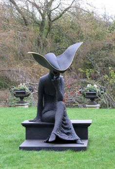 """Képtalálat a következőre: """"philip jackson sculpture"""" Human Sculpture, Art Sculpture, Pottery Sculpture, Outdoor Sculpture, Garden Sculpture, Sculptures, Wilton House, Jackson, Exterior"""