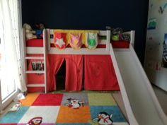 Benjamin Moore Prussian Blue, Flexa high bed with slide