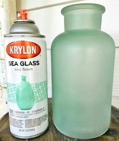 DIY cottage style sea foam sea glass bottles - The EASIEST way to get the sea gl. DIY cottage style sea foam sea glass bottles - The EASIEST way to get the sea glass look! Great for farmhouse style or cottage style decor in any room!