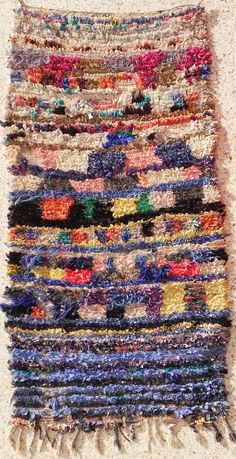 Rag rug from Morocco called boucherouite berber by BOUCHEROUITE
