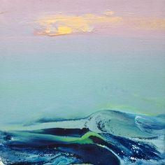 """Saatchi Art Artist Jacob Jugashvili; Painting, """"Sunset III"""" #art 12.6x12.6 250"""