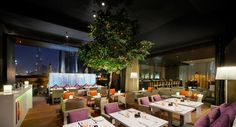 Roberto's DIFC Dubai : The fine Italian dining restaurant Italian Dining, Fine Dining, Dubai, Lounge, Restaurant, Table Decorations, Contemporary, Eat, Home Decor
