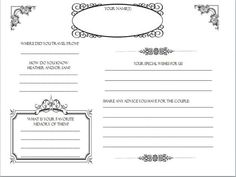 diy wedding guestbook templates | My guestbook pages