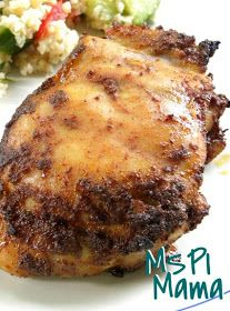 MSPI Mama: Spicy Honey-Brushed Chicken Thighs