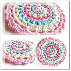 Little Spring Mandala, Free Crochet Pattern with Picture Tutorial as well...This is Gorgeous!