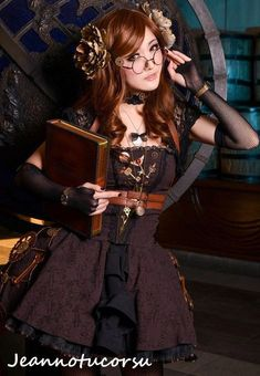 Lovely Steampunk Librarian