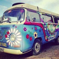 flower power hippie van #boho ☮k☮  #bohemian
