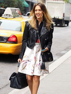 Jessica Alba shows off her street style