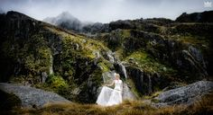 Remote Wilderness Wedding by Helicopter in New Zealand Mountain Weddings, Wilderness, New Zealand, Real Weddings, Brides, Remote, Wedding Photography, Wedding Dresses, Image