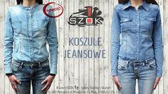 🔴🆕 Styl #japoński czy #kowbojski? Zawsze modne #koszule #jeansowe dostępne w Naszym #SalonySZOK!👣 #Pabianice. Serdecznie Zapraszamy! 👕