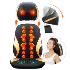 Best Chair Massager Personal Health Care Multifunction Body Massager for Back Pain Pillow Electric Infrared Pulse Massager