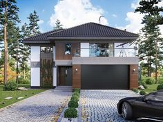 House Layout Plans, Duplex House Plans, My House Plans, Bungalow House Plans, Modern House Plans, House Layouts, Modern Exterior House Designs, Dream House Exterior, Modern Architecture House
