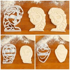 Frozen Cookie Cutters! Perfect for a Frozen themed party! Or you could use them with playdough!